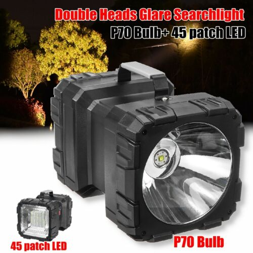 LED Handheld Spotlight USB Rechargeable Hunting Flashlight Torch Searchlight