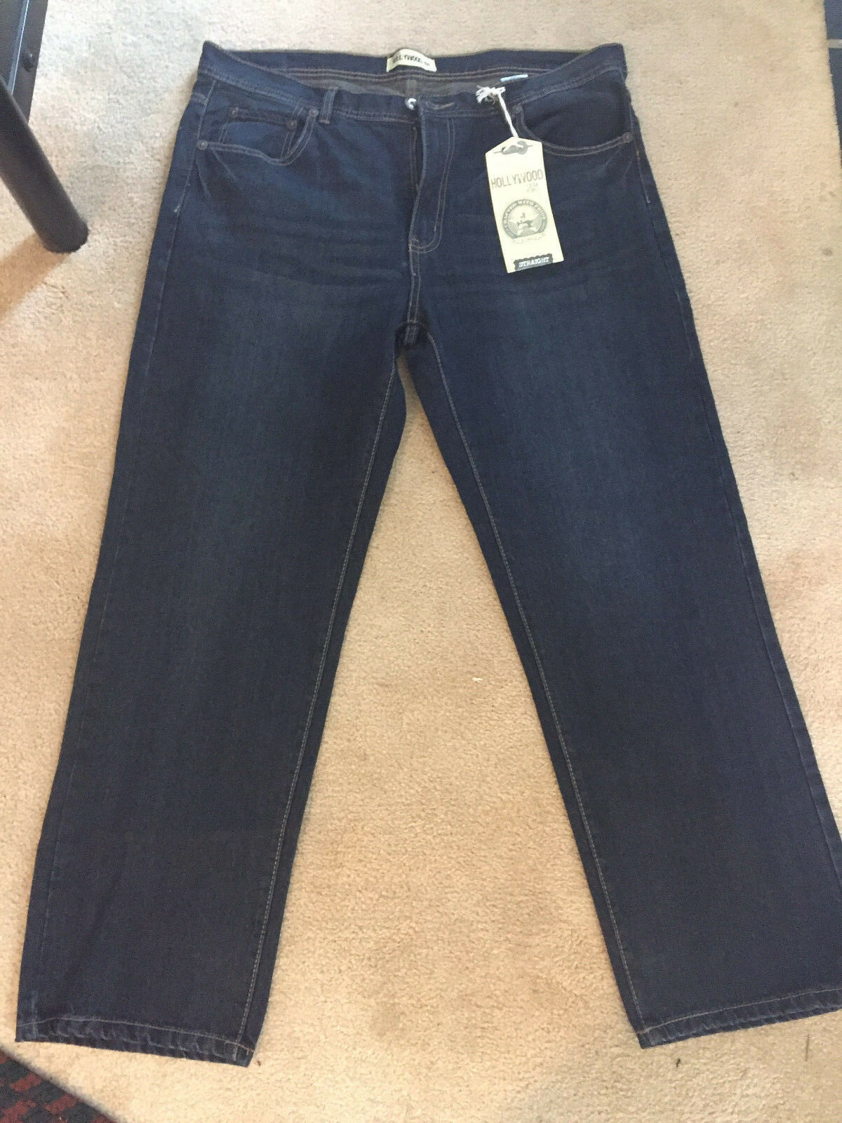 Hollywood Straight bluee Jeans 38X30 Very Popular Style