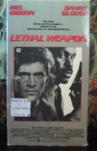 VHS-Movie-Lethal-Weapon-Warner-Bros-1987-Mel-Gibson-Danny-Glover
