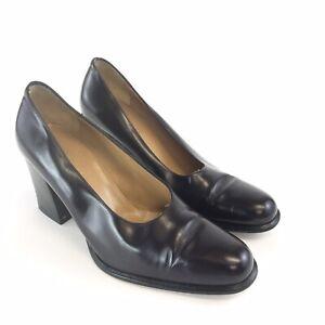 Hobbs-Marlyn-Anselm-EU37-5-UK4-5-Ladies-Dark-Purple-Leather-Slip-On-Court-Heels