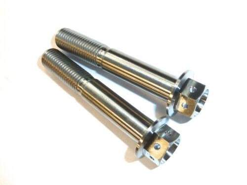 M8 X 125 M8X1.25X125 TITANIUM FLANGED HEX CROSS DRILL BOLT RACE SPEC LOCK WIRE
