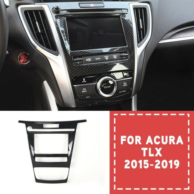 For Acura TLX 2015-2019 Carbon Fiber Car Front Console GPS