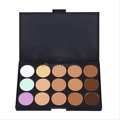 15 Colors Professional Salon/Party Contour Face Cream Makeup Concealer Palette