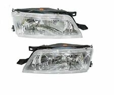 Headlights Headlamps Left LH & Right RH Pair Set For 97-99 Nissan Maxima