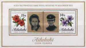 Timbres-Flore-Famille-royale-Aitutaki-BF1-lot-19435
