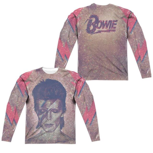 New David Bowie Lighting Bolt Short-Sleeve Cotton T-Shirt