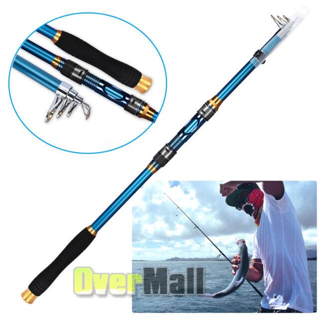 Portable Carbon Fiber Ultralight Travel Telescopic Fishing Rod Sea Spinning Pole