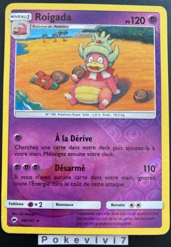 Carte Pokemon ROIGADA 48//147 Rare REVERSE Soleil et Lune 3 SL3 FR NEUF