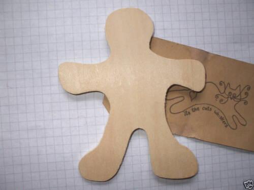 6 o 9 Madera Adorno En Blanco Placas De Madera forma Gingerbread Man Pack De 3