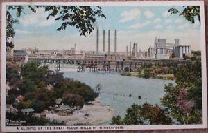 1925-Postcard-Great-Flour-Mills-Minneapolis-MN-Minn