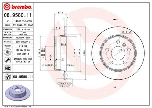 KIT DISCHI FRENO BREMBO MERCEDES CLASSE A A 200 CDI 103KW 140CV W169