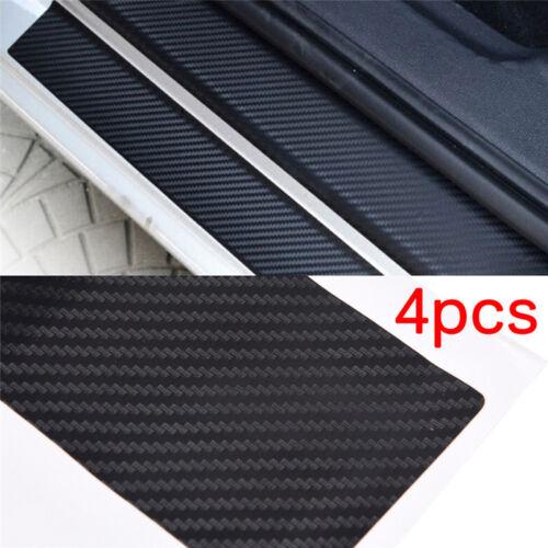 4pcs 3D Carbon Fiber Look Car Door Plate Sill Scuff Cover Sticker Anti Scratc sc