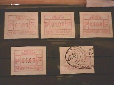 Belgien Automaten 5 Marken Gest./** Mw 8,50 Euro KöStlich Im Geschmack