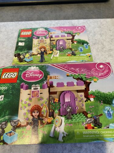 "LEGO 41051 DISNEY PRINCESS /""MERIDA/'S HIGHLAND GAMES/""  Building Manuals 1+2"