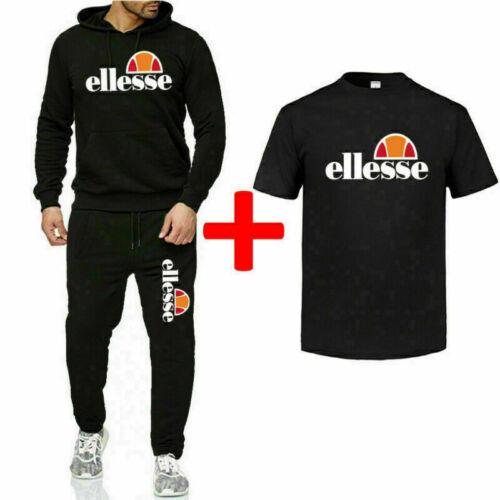 NEU Ellesse Jogging Anzug 3Stück Trainingsanzug Sweatshirt Sportanzug Polyanzug