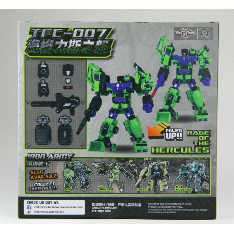TFC TF-007 RAGE OF HERCULES Devastator TRANSFORMERS Power Kit SET