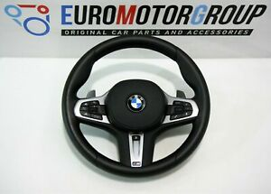 BMW-M-SPORTS-Volant-de-Direction-en-Cuir-Vibration-Shift-Pagaies-Chauffe