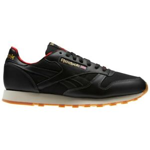 Reebok Classic Leather Lj (BLACK PRIMAL RED GOLD PAP) Men s Shoes ... 5a7782f81