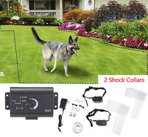 Underground-Electric-Dog-Fence-Fencing-2-Shock-Collars-Waterproof-System-Safety