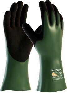 12 x MaxiChem 56-633 Chemical Resistant Comfort Cut Level 3B Gauntlet - 30cm