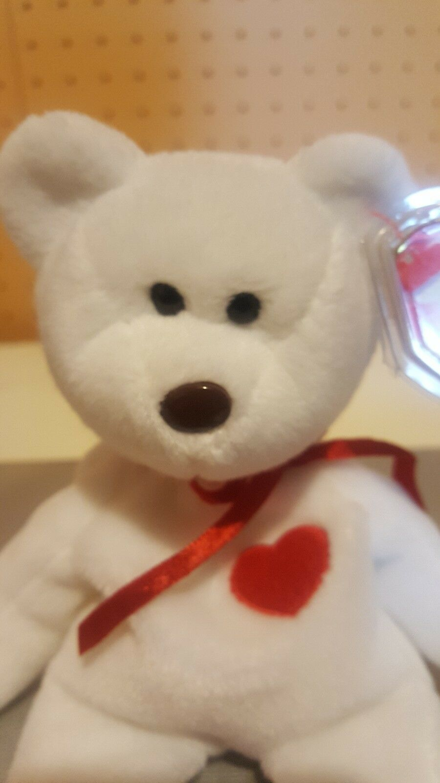 Extremely Rare   VALENTINO 1993 1994 TY TY TY Beanie Baby with tag errors MINT PVC 77171d