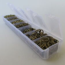 Jump Rings Antiqued Bronze 1500PCs Mix - 7 Assorted Sizes In Plastic Storage Box