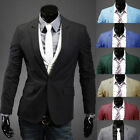 Fashion Mens Slim Fit Stylish Casual One Button Suits Coat Jackets Blazers RW56L