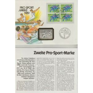 1989-Swiss-pro-Sport-FDC-And-Stamp-IN-Silver-MF73577