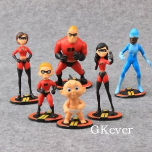 6X-Pixar-The-Incredibles-2-Action-Figure-Play-set-Toy-Doll-Cake-Topper-Kids-Gift