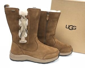 18eaee90882 Details about UGG Australia Suvi Waterproof Chestnut Leather Fur Winter  Boot corset 1018333