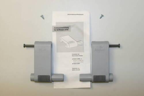 Des produits originaux poignée levier-Set ba91 Gris Dörken Braas Atelier Fenêtre pièce de rechange