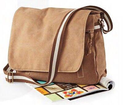 QUADRA ottima borsa tracolla cotone tela Canvas moda stile vintage uomo donna