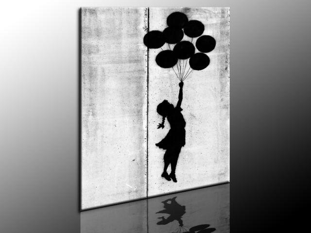 Banksy Graffiti Leinwandbild Wandbild Kunstdruck Posterdruck Fotoleinwand 24-9