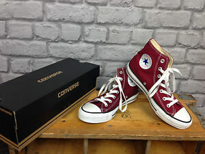 89bc3acfe325 CONVERSE UNISEX UK 3 CT ALL STAR HI TOPS BURGUNDY MAROON RRP £48