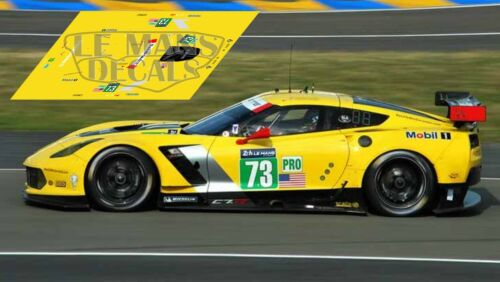 Calcas Corvette C7R Le Mans 2014 1:32 1:24 1:43 1:18 C7 R Chevrolet slot decals