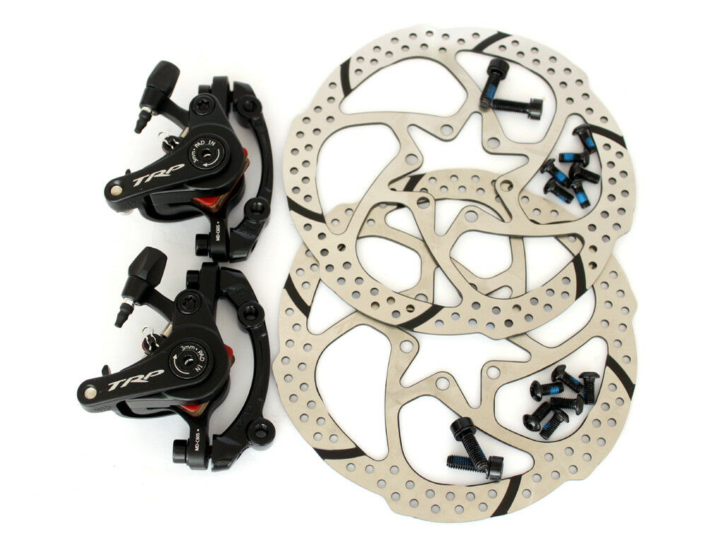TRP Spyre C Mechancial Disc Brake Dual Side Actuation F&R w  redor Set