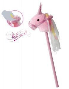 Schaukelspielzeug Steckenpferd Einhorn Plüsch rosa lila mit Sound Effekt Mädchen Kinder Unicorn