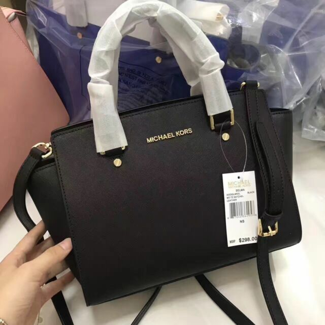 Saffiano Leather Satchel Bag