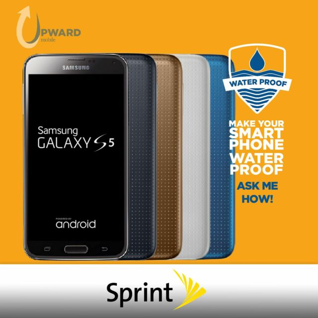 Samsung Galaxy S5 SM-G900P (16GB, 32GB) Sprint Boost Ting Flash Wireless