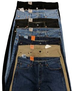 Levis-501-Original-Fit-Men-039-s-Jeans-Straight-Leg-Levi-039-s-Button-Fly-Fast-Shipping