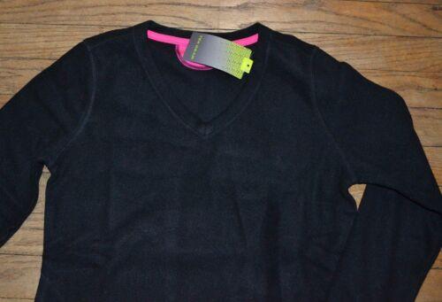 Tek Gear Performance Fleece V Neck Pullover Top Black Super Soft /& Warm