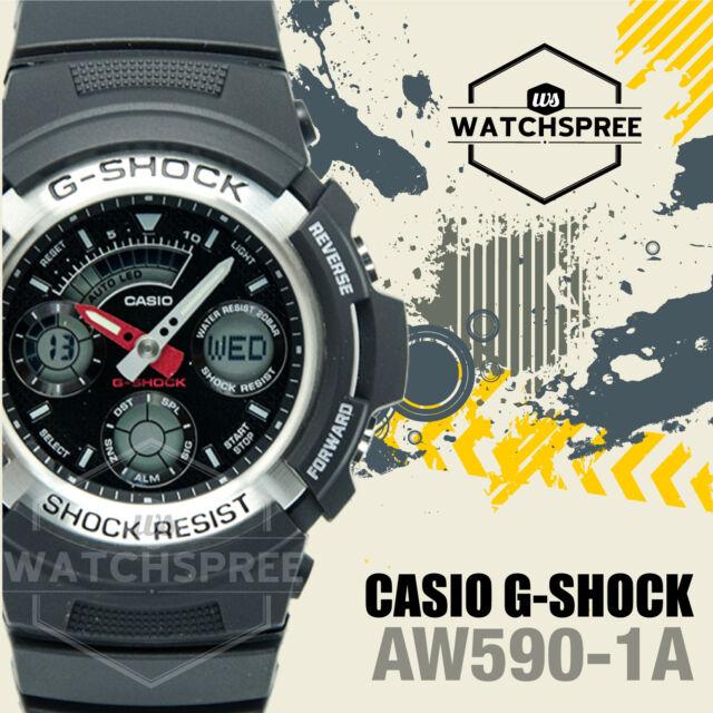 Casio G-Shock Ana Digital Sport Watch AW590-1A AU FAST & FREE