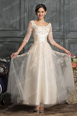 1950s Vintage Swing Sexy Applique Evening Prom Dress Gown Bridesmaid