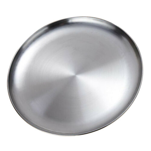 Stainless Steel Dinner Plate 20cm 23cm Round Strong Outdoor Camping Picnic