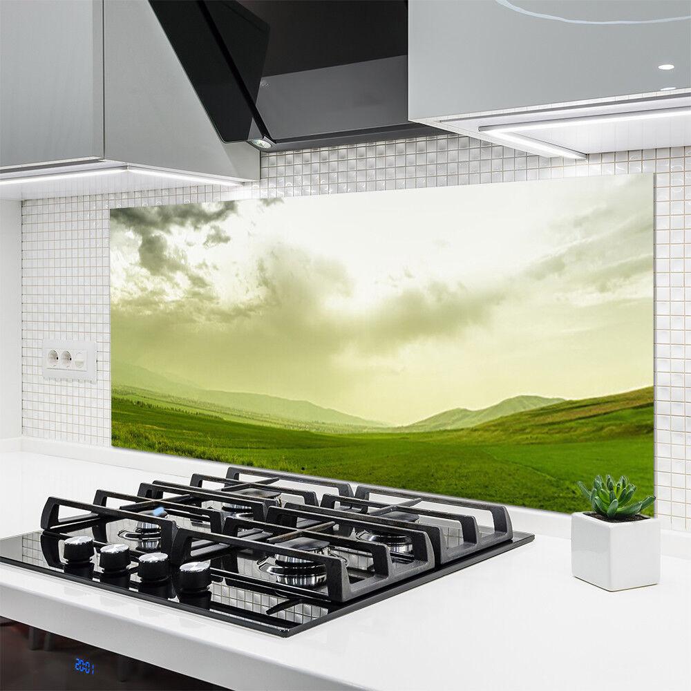 Crédence de cuisine en verre Panneau 140x70 140x70 140x70 Nature Prairie 3897f6
