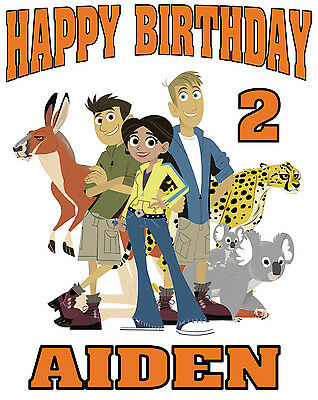 NEW CUSTOM PERSONALIZED Wild Kratts BIRTHDAY T SHIRT PARTY FAVOR ADD NAME