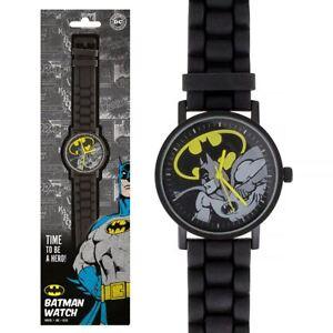 eb1b52c8810f La imagen se está cargando Reloj-Analogico-nuevo-DC-Comics-Batman-Negro-Con-