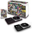 Wii-U/Wii DJ HERO Game Double Bundle 2 TURNTABLES Set nintendo kit video guitar