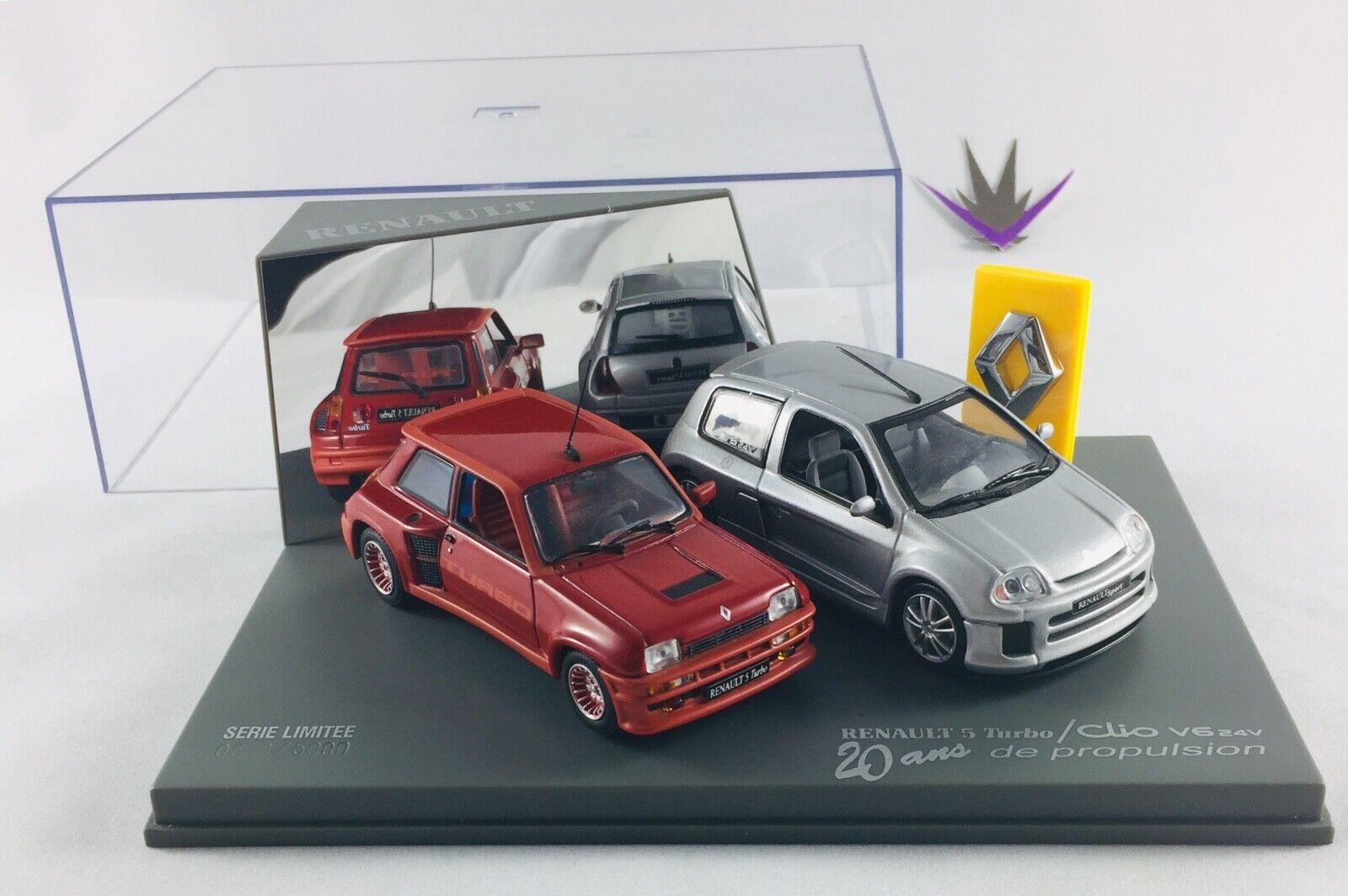 Universal Hobbies Renault 5 Turbo Clio V6 24V 1 43 avec boîte