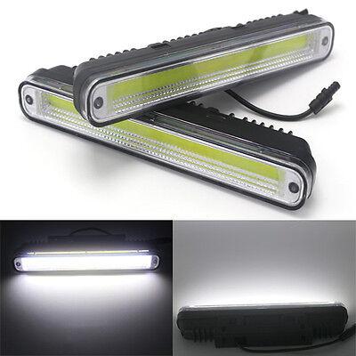 2Pcs Super Bright LED COB Daytime Running Fog Light White Head light 8W 12V DRL